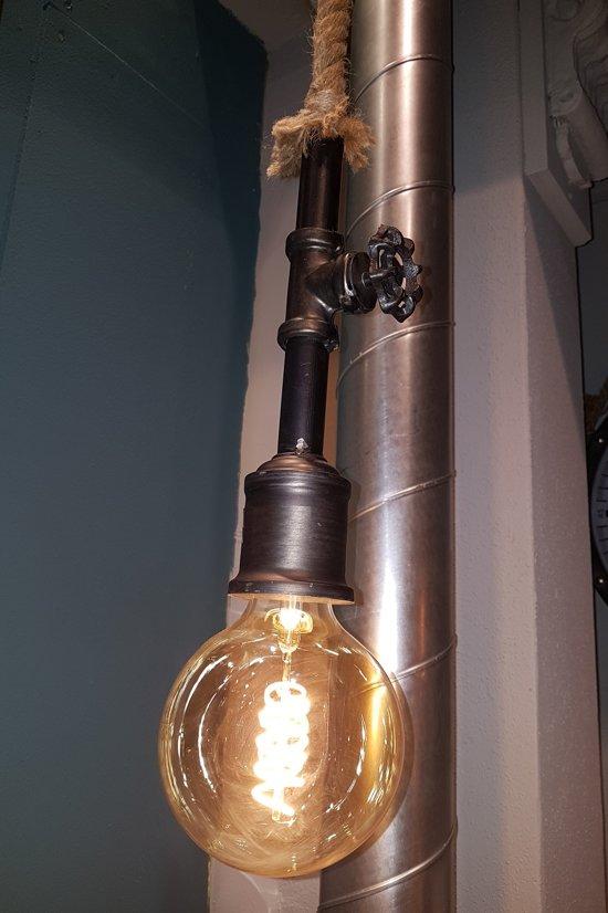 Hanglamp Met Touw.Hanglamp Met Touw Zwart