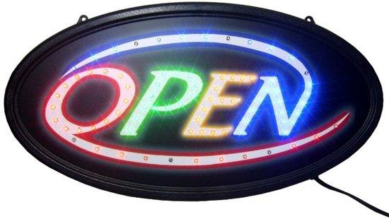 Verwonderlijk bol.com   ROND OPEN Led licht bord sign reclame ledbord met opdruk QF-72