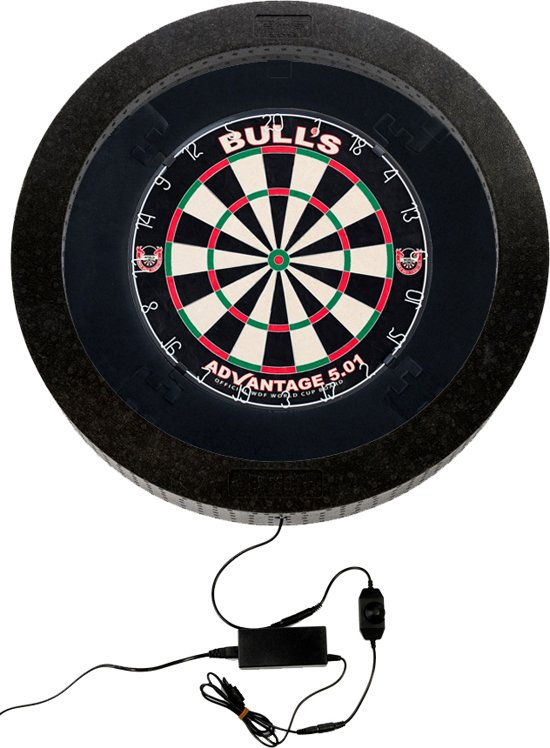 bulls termote led 20 dartbord verlichting guard surround black