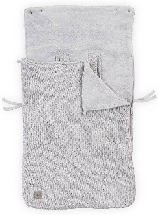 Jollein Confetti knit Comfortbag groep 0+ 3/5 punts grijs