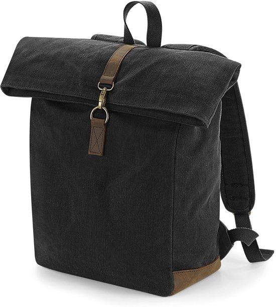 27233d15a53 Senvi - Rugzak/Backpack - Waxed Canvas - Kleur Zwart