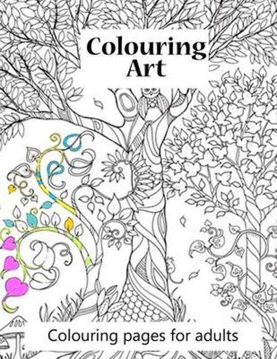 bol.com | Colouring Pages for Adults Colouring Art, S J Carney ...