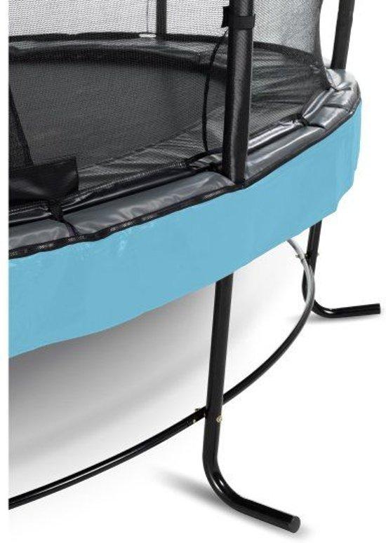 EXIT Elegant trampoline ø427cm met veiligheidsnet Deluxe - blauw