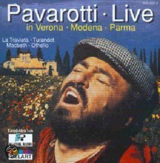 Pavarotti Live in Modema, Veroma, Parma