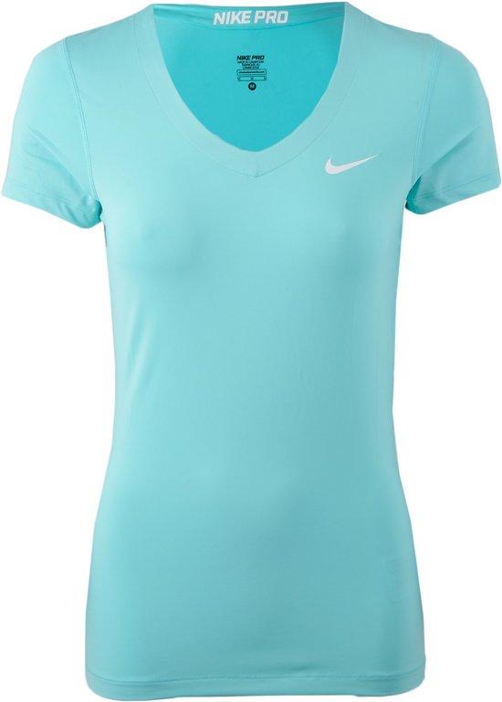 bol.com | Nike Pro Core SS - Sportshirt - Dames - Maat L - Blauw