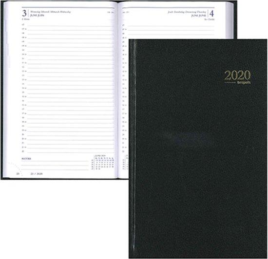 Afbeelding van Brepols Agenda 2020 Saturnus Lima - 1 dag per pagina - Zwart