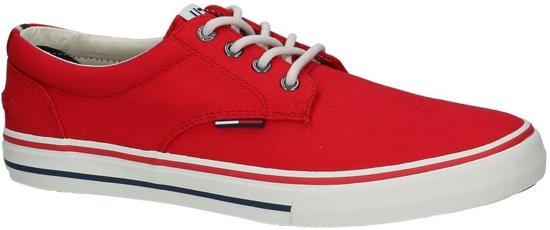 db53100de0b Tommy Hilfiger - Tommy Jeans Textile Sneaker - - Heren - Maat 42 - Rood