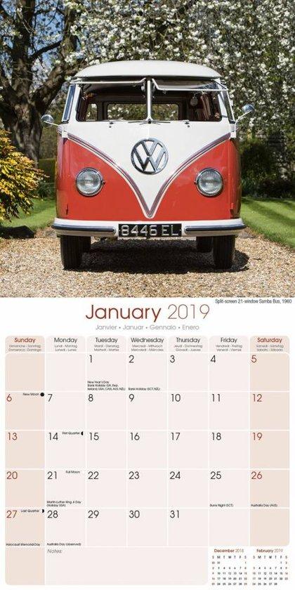 Bol Com Volkswagen Bus Vw Campers Kalender 2019