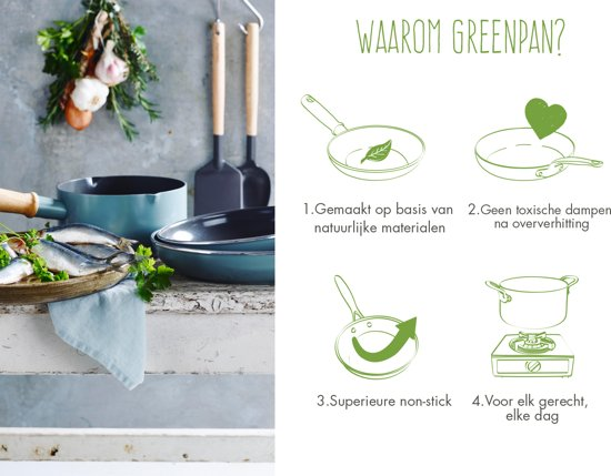 Greenpan Mayflower Pannenset 3-delig met Spatel en Opscheplepel