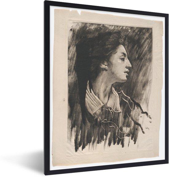 Foto in lijst - Elizabeth Alexander - Schilderij van John White Alexander fotolijst zwart 30x40 cm - Poster in lijst (Wanddecoratie woonkamer / slaapkamer)