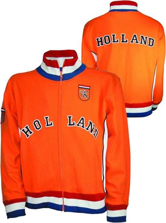 EK/WK Nederlands Elftal Oranje Voetbal Retro jack met Holland logo - maat 164