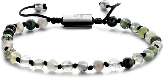 Frank 1967 Beads 7FB 0366 Natuurstenen armband - One-size - 4 mm - Groen