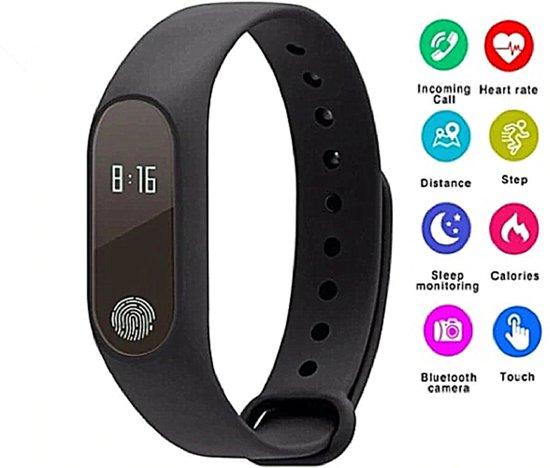 Slimme armband M2 Smart Band Armband Mannen Vrouwen Kijken Hartslag Slaapstappen Tracker Polsbandje Oproep SMS Herinnering Voor Android IOS Bluetooth Fitness Tracker Elektronica Smart Clock Band