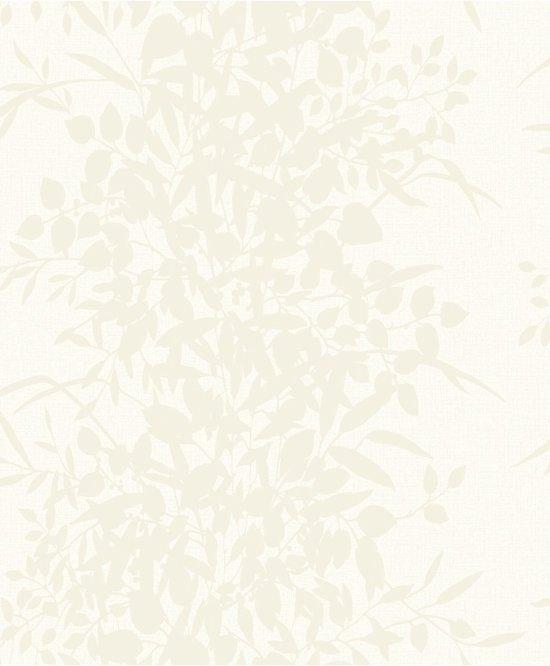 Nordic Elegance Bladeren Creme Behang Vliesbehang Creme