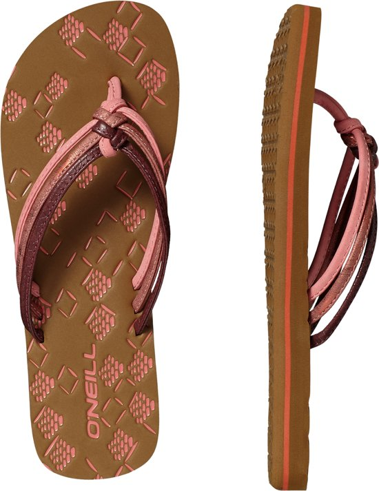 41224c26d8085 O Neill Slippers Fw 3 strap ditsy flip flops - Hot Coral - 39