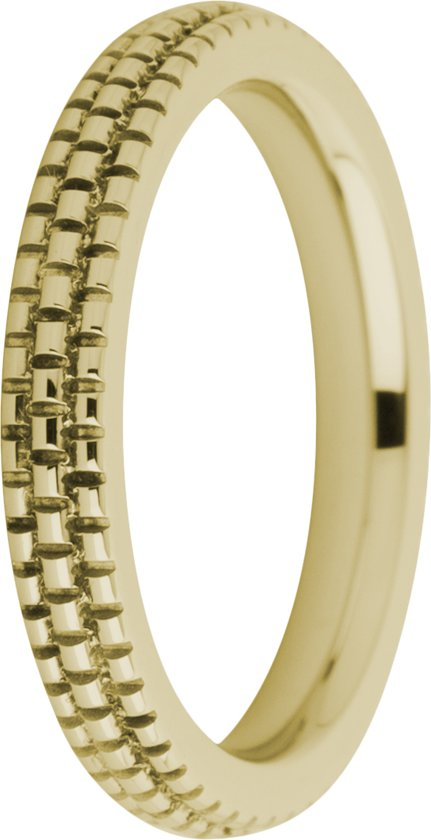 Melano friends Sarah refined engraved ring - Goudkleurig - Dames - Maat 50