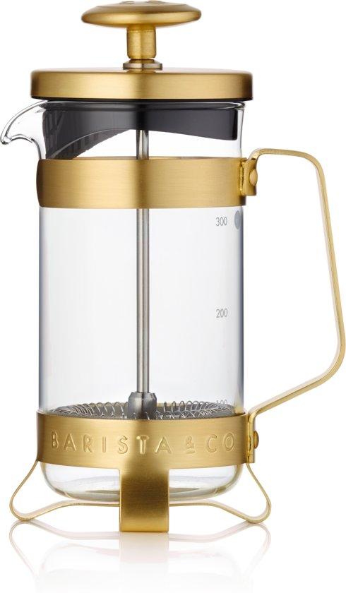 Barista & Co Plunger voor 3 koppen - RVS/Borrosilicaatglas - Goud