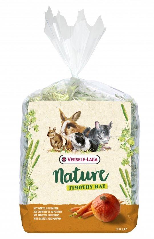 Versele-Laga Nature Timothy Hay - Ruwvoer - Wortel Pompoen 500 g