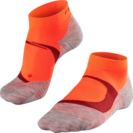 FALKE RU4 Cool Short Dames Hardloopsokken - Neon Red - Maat 37-38
