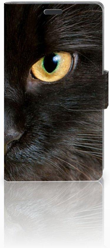 Nokia Lumia 625 Leuk Hoesje Zwarte Kat in Westerblokker