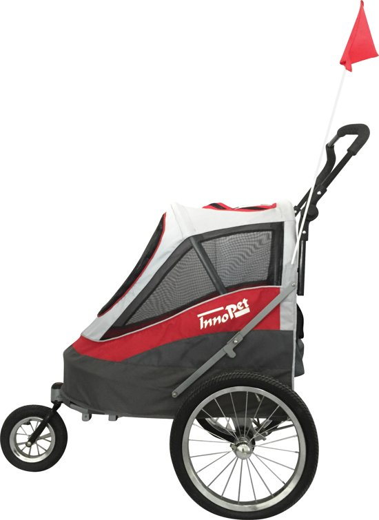 Sporty Dog Trailer Rood Wit