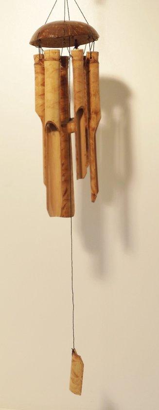 Bamboe windgong 5 buizen 30