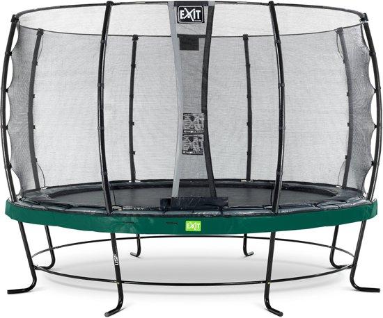 EXIT Elegant trampoline ø366cm met veiligheidsnet Economy - groen