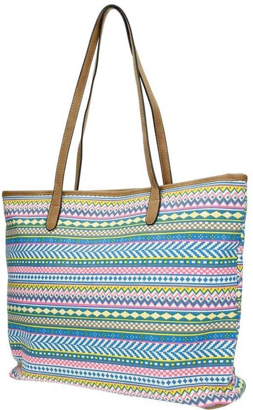 51c89df51d6 bol.com | Beagles Canvas Shopper Neon Aztec