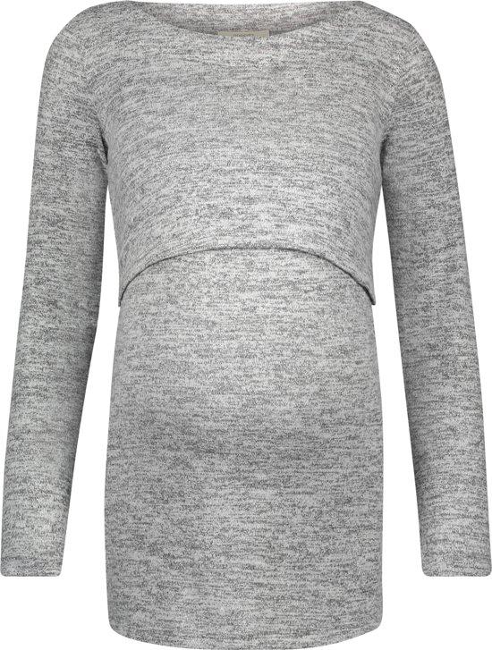 Noppies Zwangerschaps-t-shirt Angela - Grey Melange - Maat L