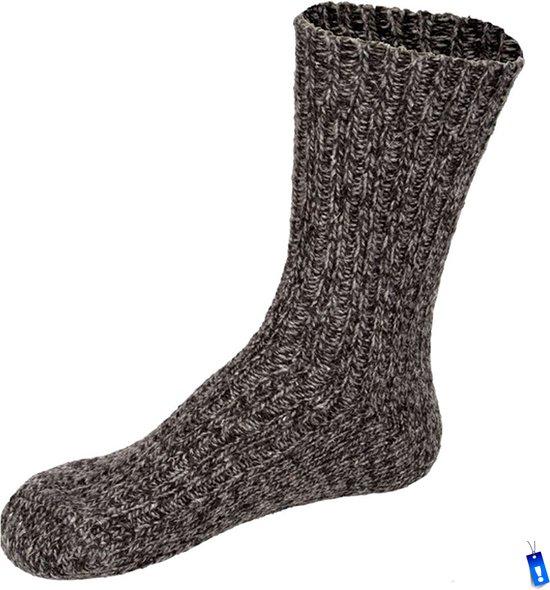 Noorse Sokken Starling - Lang model - 1 paar - 40% wol - Antraciet - 47/48