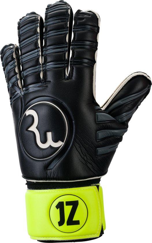RWLK Goalkeeper handschoen JZ 1 geel/zwart flat cut, maat 4