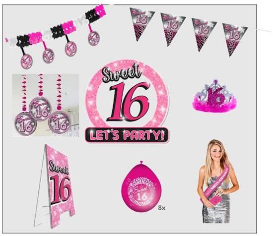 Bol Com 8 Delig Pakket Verjaardag 16 Jaar Sweet Sixteen Fun City