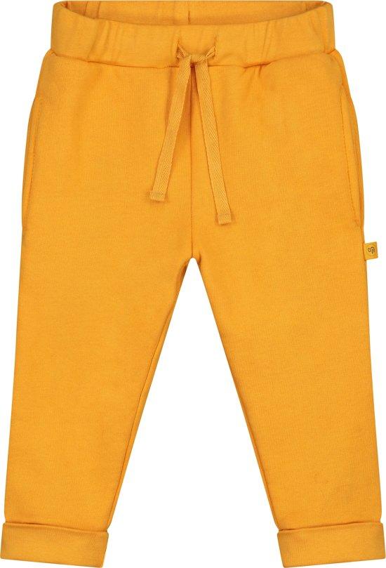 Smitten Organic - Unisex Babykleding Sweat Joggingbroek- Amber Yellow - Maat(74)
