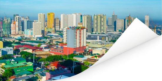 Kleurrijke gebouwen in Manila Poster 40x20 cm - Foto print op Poster (wanddecoratie woonkamer / slaapkamer) / Aziatische steden Poster