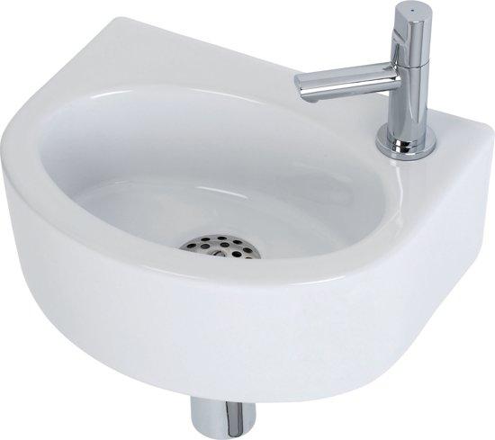 Plieger orlando fontein toilet set fontein 30 x 22 cm inclusief fonteinkraan - Toilet wastafel ...