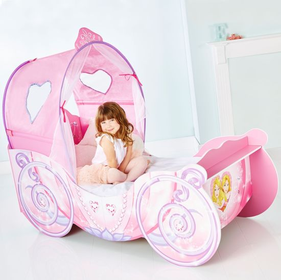Worlds Apart Disney Prinses Koets Kinderbed met Licht