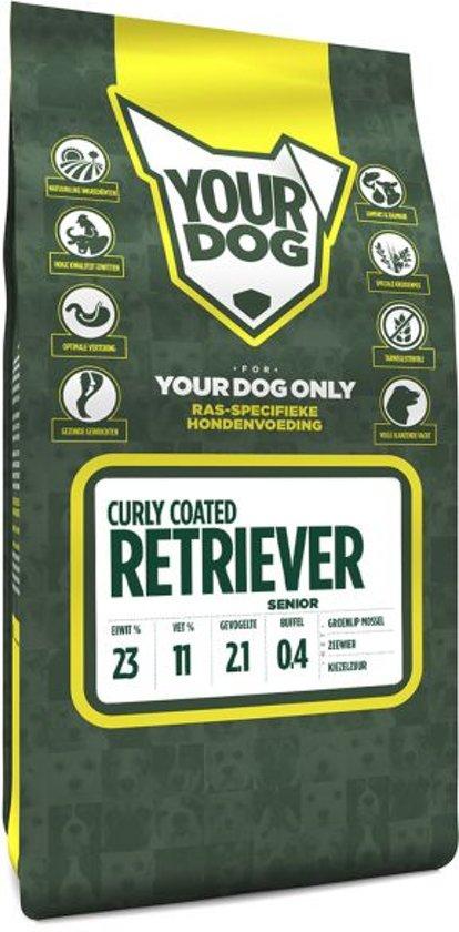 Yourdog curly coated retriever hondenvoer senior 3 kg