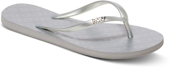 Roxy Viva Iv Dames Slippers - Silver - Maat 8.5