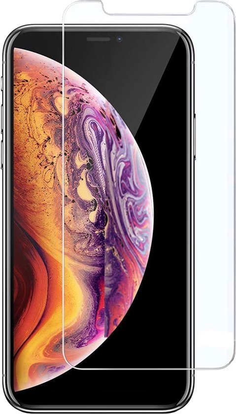 Apple iPhone Xs Max Screenprotector Glazen Gehard | Case Friendly | Tempered Glass - van iCall