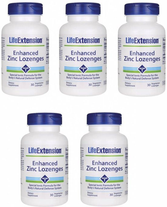 Enhanced Zinc Lozenges, 30 Vegetarian Lozenges, 5-pack
