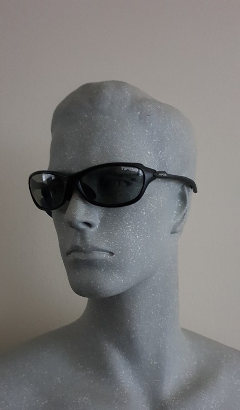 Sportbril TIFOSI Strada, Matte Black, T-VP350, Smoke Polarized Fototec lenzen (meekleurend), Pasvorm XS / S, Verpakking (doosje) kan verkleurd zijn