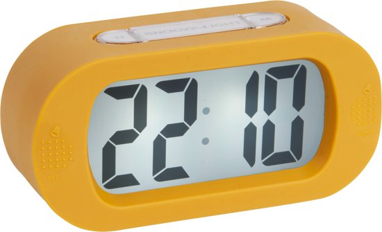 Alarm clock Gummy rubberized ochre yellow