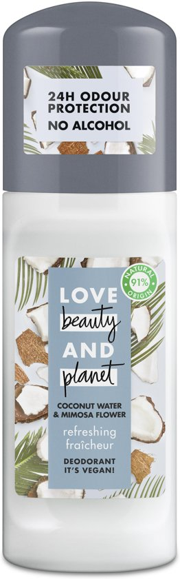 Love Beauty And Planet Coconut Water & Mimosa Flower Refreshing Deodorant Roller 2 x 50 ml