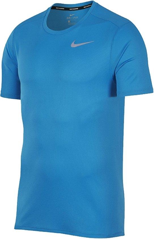 Nike Breathe Sportshirt performance - Maat M  - Mannen - blauw