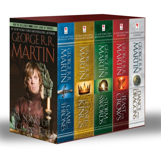 Boek cover George R. R. Martins a Game of Thrones 5-Book Boxed Set (Song of Ice and Fire Series) van George R.R. Martin (Paperback)