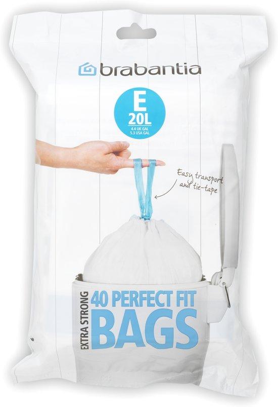 Brabantia Vuilniszakken 45 Liter.Brabantia Perfect Fit Afvalzakken 20 L Laag Code E 40 Stuks