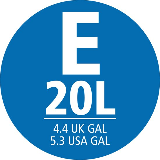 PerfectFit afvalzak met trekbandsluiting code E, 20 liter, 40 stuks/dispenser pack