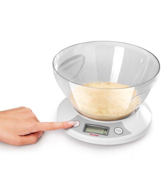 Metaltex - Kitchen Helpers Pesa Digitale Keukenweegschaal - 5Kg. - Met Kom 2,5L