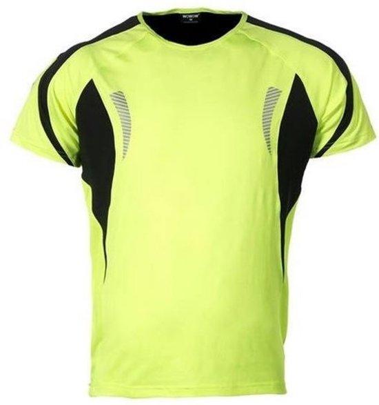 Wowow Dark Shirt 1.0 Heren Fluorgeel Reflecterend Maat L