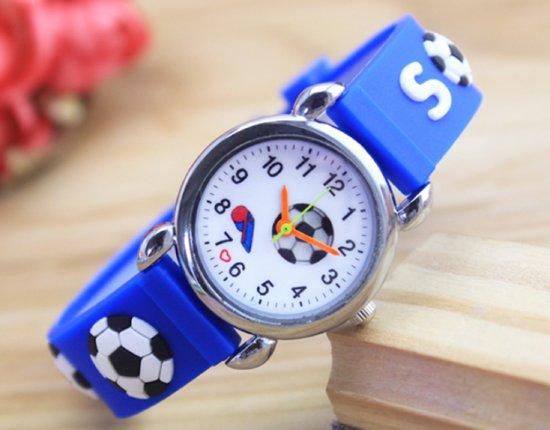 Kinder horloge- Voetbal- Donkerblauw